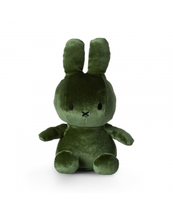 Plyšový zajačik machovozelený zamat - Miffy (23 cm)