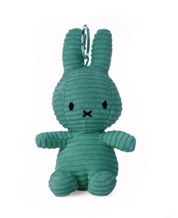 Plyšový zajačik modrozelený menčester - kľúčenka - Miffy (10 cm)