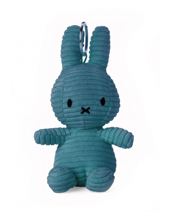 Plyšový zajačik modrý menčester - kľúčenka - Miffy (10 cm)