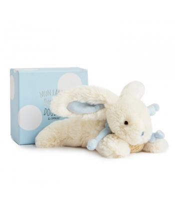 Plyšový zajačik modrý v škatuľke - Dou Dou (20 cm)