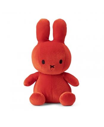 Plyšový zajačik oranžovočervený zamat - Miffy (23 cm)