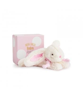 Plyšový zajíček růžový v krabičce - Dou Dou (20 cm)