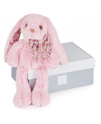 Plyšový zajačik ružový v škatuľke - Histoire D´Ours (25 cm)