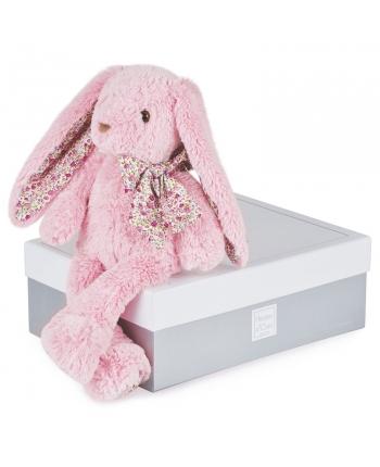Plyšový zajačik ružový v škatuľke - Histoire D´Ours (50 cm)