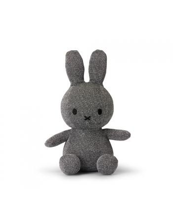 Plyšový zajačik - strieborný trblietky - Miffy - 23 cm