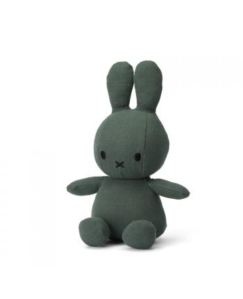 Plyšový zajačik - tmavo-zelený - mušelín - Miffy  - 23 cm