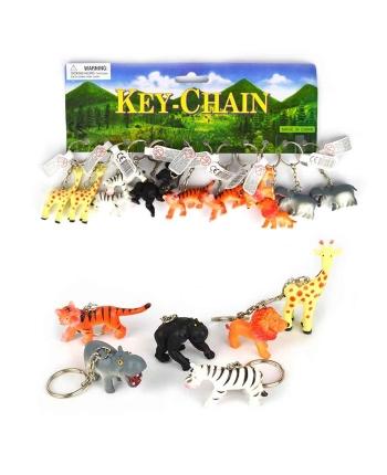 Prívesok divožijúce zvieratko - kartička 12 ks (5 cm)