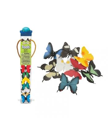 Sada motýľov v tube 8 ks - 4x4x33 cm