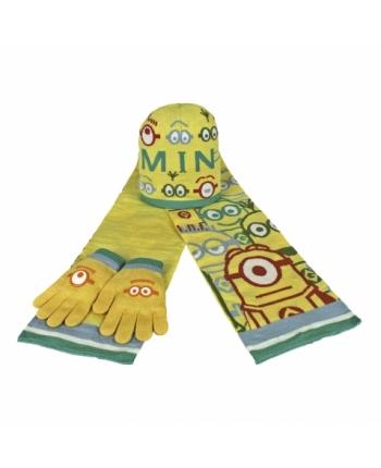 Set zimného oblečenia - Mímoň - bledo žltá - čiapka + šál + rukavice
