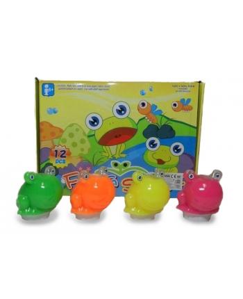 Sliz farebný v žabe - displej 12 ks (7,5 cm)