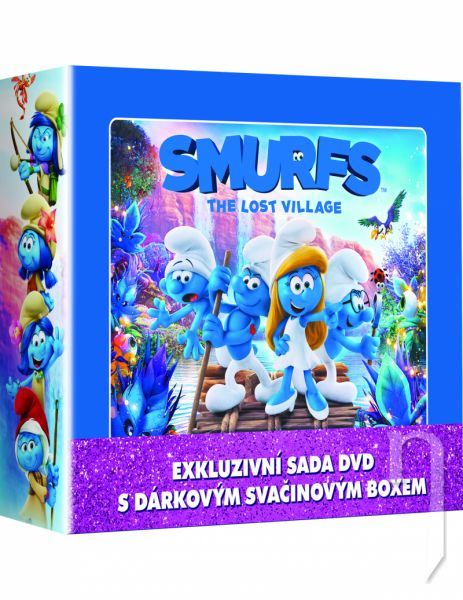 BLU-RAY Film - Šmolkovia 1-3 LUNCH BOX (3 BD)