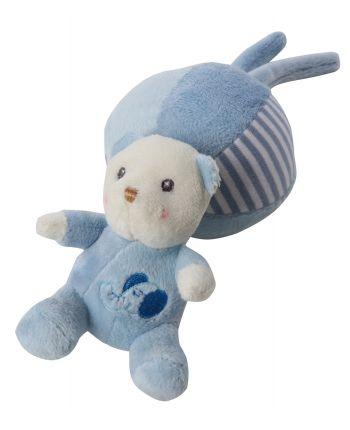 Plyšový macko naťahovací – modrý (18 cm)