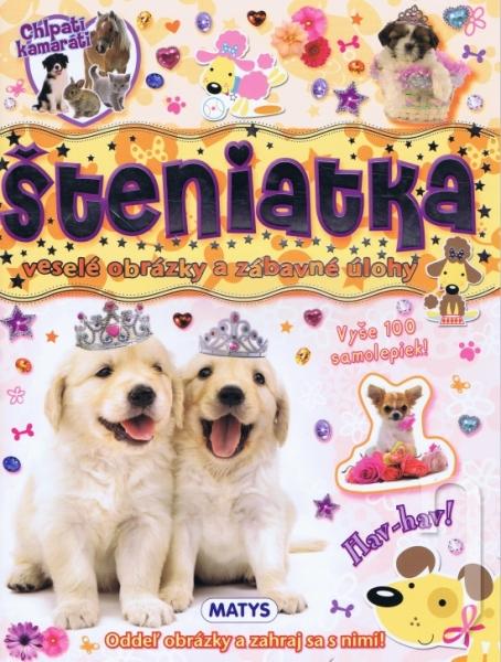 Kniha - šteniatka - veselé obrázky a zábavné úlohy