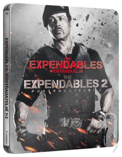 BLU-RAY Film - The Expendables 1+2 (steelbook)