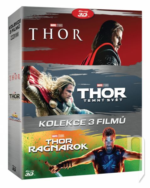 DVD Film - Thor kolekce 1-3 3DVD