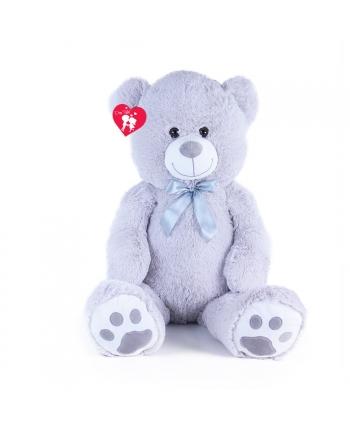 Veľký plyšový medvěd Bady -  šedý - 100 cm