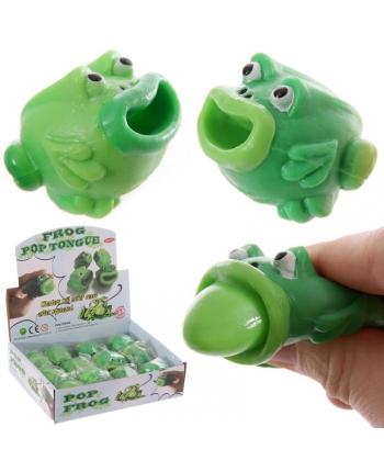 Zábavná žaba s vyplazujúcim jazykom (4 cm)