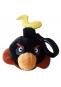 Hračka - Plyšový Angry Birds - Space čierny - prívesok