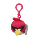 Hračka - Plyšový Angry Birds - Space červený - prívesok