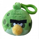 Hračka - Plyšový Angry Birds - Space zelený - prívesok