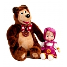 Hračka - Bábika Máša a Medveď Miško - Máša a Medveď (22 cm a 33 cm)