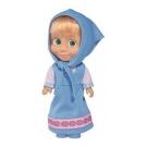 Hračka - Bábika Máša v modrých šatách - Máša a Medveď (12 cm)