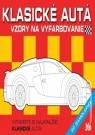 Kniha - Klasické autá - Vzory na vyfarbovanie + 60 samolepiek