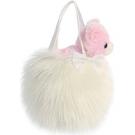 Hračka - Plyšová kabelka biela s mačičkou - Fancy Pals (20,5 cm)