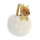 Hračka - Plyšová kabelka biela so sobom - Fancy Pals (20,5 cm)