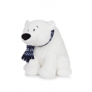 Hračka - Plyšový ľadový medveď so šálom (33 cm)