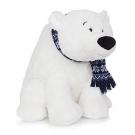 Hračka - Plyšový ľadový medveď so šálom (38 cm)