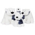 Hračka - Plyšový ľadový medveď so šálom (45,7 cm)