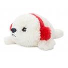 Hračka - Plyšový tuleň s ušiankou (20,3 cm)