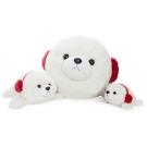 Hračka - Plyšový tuleň s ušiankou (68,5 cm)