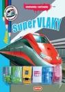 Kniha - Super vlaky - Omalovánky + 6 hraček