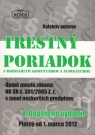 Kniha - Trestný poriadok s rozsiahlym komentárom a judikatúrou od 1.marca 2012